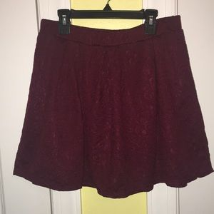 Joe B XL Maroon Rose Pattern Skater Skirt